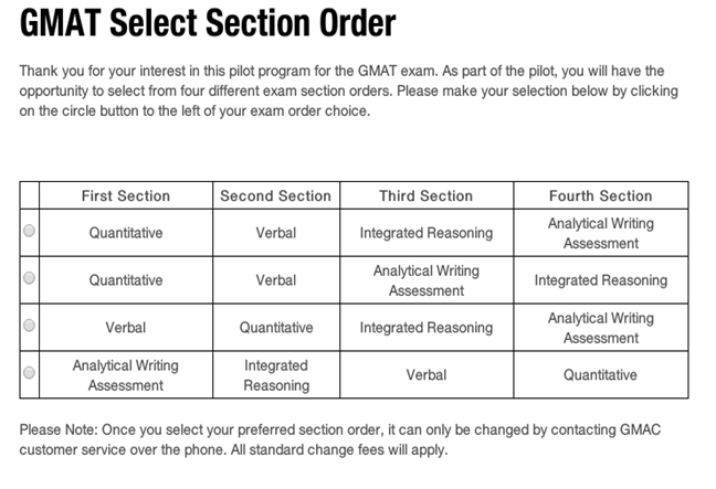 Section Order