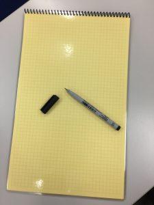 GMAT ペンと計算メモ用紙